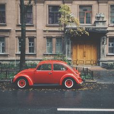 Red VW.