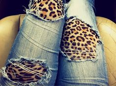 interesting way to change up ripped jeans
