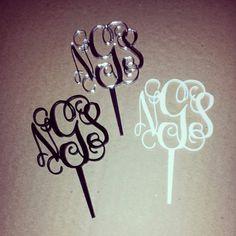 Interlocking Monogram Cupcake Toppers