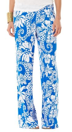 Lilly Pulitzer Cambridge Palazzo Pant in Quahog Chowdah