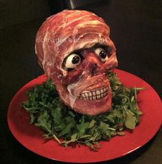 Halloween appetizer: I'd stack our meat head against the
