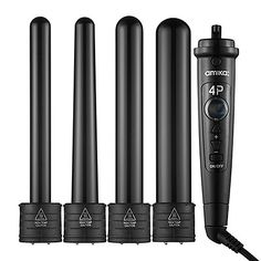 Amika 4P Interchangeable Barrel Curler Set: Shop Flatirons, Stylers & Curlers | Sephora-Love this for my thick hair. Curls last all day long. Its great that I can switch to any size of iron I want