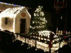 Christmas Parade float Santas workshop