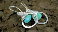 Faceted Turquoise Hoops  Talia Serinese Jewelry  taliaserinese.etsy.com
