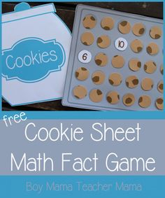 Boy Mama Teacher Mama - FREE Cookie Sheet Math Fact Game. #preschool #efl #education (repinned by Super Simple Songs)