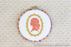 little lovelies: fabric wrapped embroidery hoop