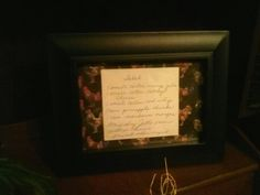 Grandmothers recipe handwritten