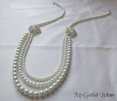 This Pearls of Wisdom Necklace is a gorgeous DIY jewelry project to make whether you're attending a wedding or you're the bride-to-be!