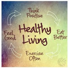 Think Positive, Eat Better, Exercise Often, and Feel Good.  #Healthy