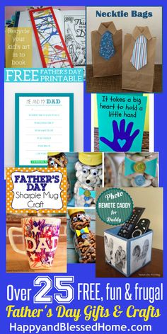 Ultimate List of Fathers Day Gifts and Crafts - Over 25 FREE, Fun and/ or Frugal gift ideas
