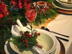 Christmas wedding table decor