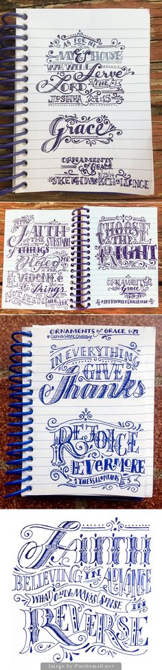 Lettering sketches by Beth Rufener