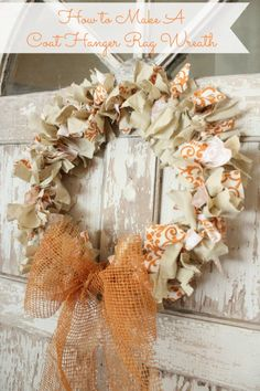 How to Make a Coat Hanger Rag Wreath