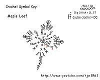 Crochet Maple Leaf - Chart ❥ 4U / /hf