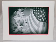 photo card American Flag patriotic parade 4th by RoadAheadPhotos, $3.50