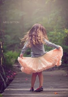 The simple joy of being a little girl in a tutu, twirling around without a care in the world...take me back to that time.