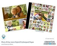Photo A Day 12x12 Predesigned Pages for StoryBook Creator