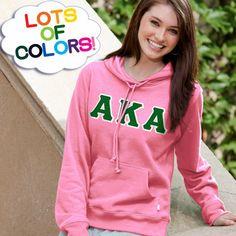 Alpha Kappa Alpha Ladies' Enza Pullover Hoodie $40.95 #Greek #Sorority #Clothing #AKA #AlphaKappaAlpha #LotsOfColors