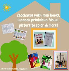 Zacchaeus with free printables!