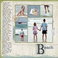 Beach (Left Side) - Scrapbook.com