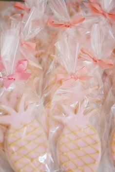 Summer Sip & See Baby Shower pineapple cookies! Cute for a summer baby shower! Kara's Party Ideas