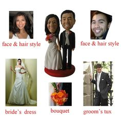 Keepsakecustom wedding cake topper to look like you by mark13148, $178.00
