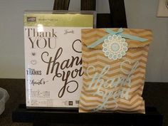 Another Thank You, Polka-Dot Pieces, Chevron Tag a Bag Gift Bag. So nice to have these bags on hand for quick gift package!