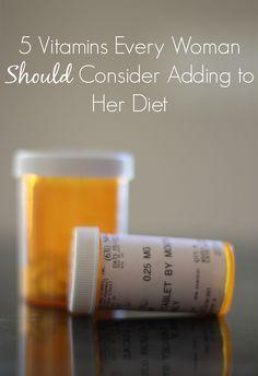5 Vitamins for Women