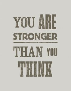 you are.