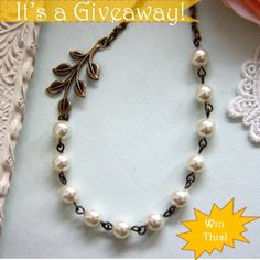 Necklace GIVEAWAY-Enter here for your chance to win: http://ow.ly.9UbHK