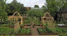 english garden, veggie gardens, garden layout, traditional kitchens, garden idea