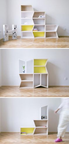 Cheeky boxes, spin on ordinary bookshelves