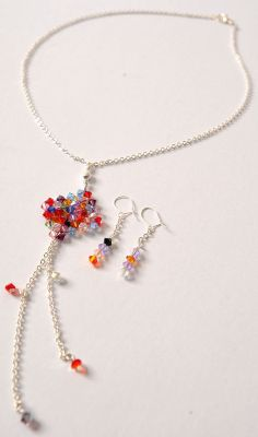 DIY Swarovski Pendant And Earrings