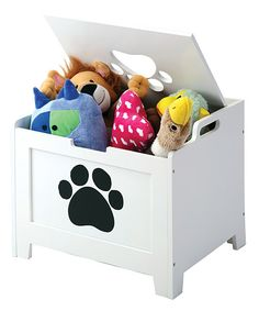 White Paw Pet Storage Box