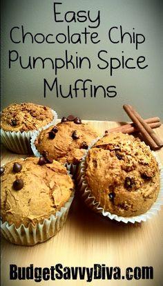 Chocolate Chip Pumpkin Spice Muffins Recipe