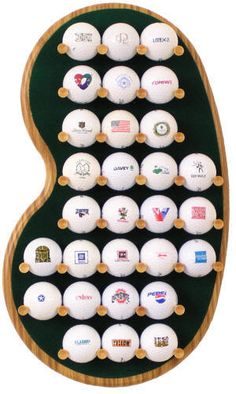 29 Logo Golf Ball Display Rack
