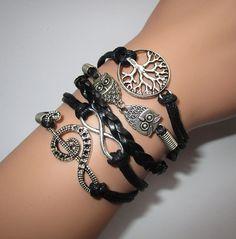 Infinity Bracelet Music Note Bracelet Owls Bracelet