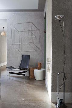 wall art, chair, design interiors, loft, string art