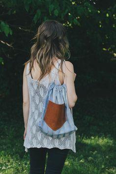 Drawstring Backpack | DIY