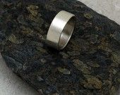 MEDIUM Brushed Matte Ring - A Band for Men or Women - Made to Order in Sustainable Silver. $54.00, via Etsy.
