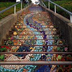 Mosaic stairs in San Francisco.
