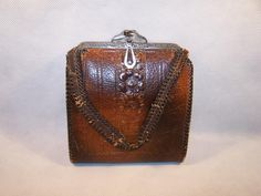 Vintage Leather Tooled Handbag