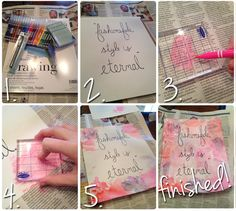 DIY Wall Art for your dorm room! This is super easy. Make beautiful art for your dorm room or apartment <3
