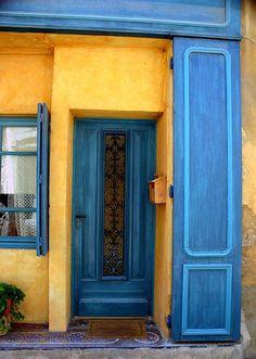 Blue Door, Yellow Walls