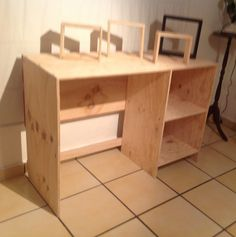 Diy desk + shelves