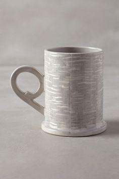 Bristlecone grey mug - anthropologie