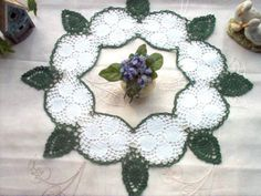 DOILY Dogwood Ring Crochet Lace Thread Art Doily by crochetbymsa, $22.95