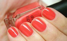 orang, bridal nails, nail polish, nail colors, coral nail