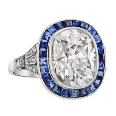 1920s  Sapphire Diamond Dress Ring