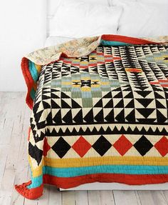 kaleidoscope patchwork quilt. urban outfitters